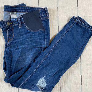 Old Navy Maternity Side Panel Rockstar Jeans